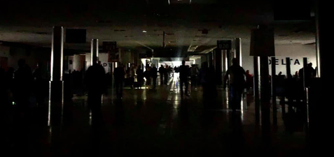 Airport blackout