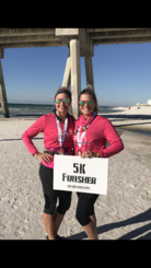 Crazy Kristen and Amy at NeoEndurance 5K
