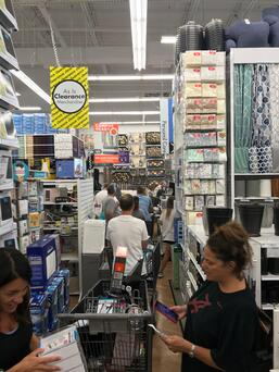 Line at Bed Bath Beyond