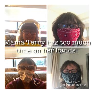 Mama Terry facemask collage