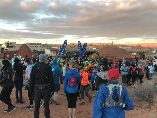 Race Start of the 2019 Antelope Canyon 55K